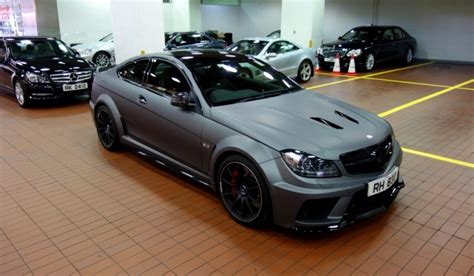 mercedes c63 amg matte black mercedes c63 amg black series in matte seal gray by