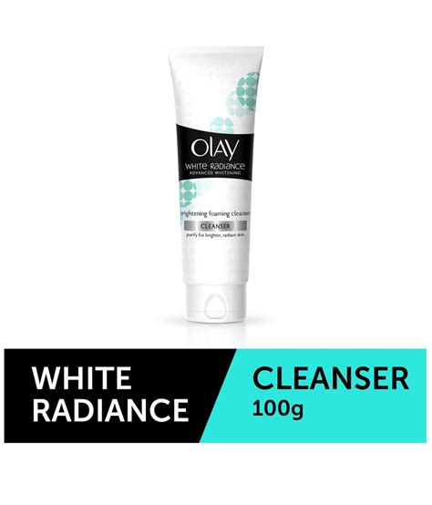 Olay White Radiance Cleanser olay white radiance advanced whitening fairness brightening foaming wash cleanser 100g