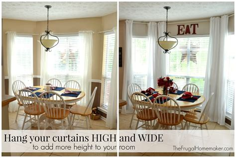how high to hang curtains 9 foot ceiling no sew inexpensive long curtains made from sheets