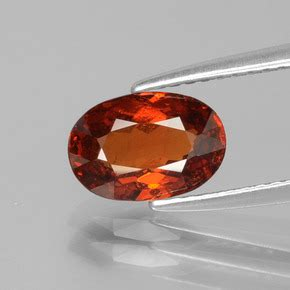 Spessartite Garnet 8 76ct orange spessartite garnet 1 8ct oval from mozambique