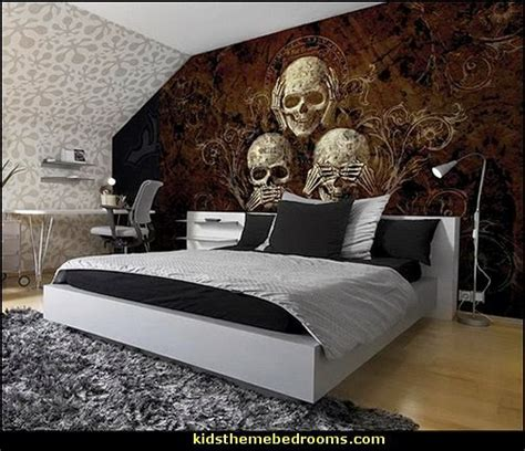 skull bedroom curtains decorating theme bedrooms maries manor skull bedding
