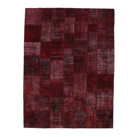 bordeux vintage patchwork rug 276x370cm
