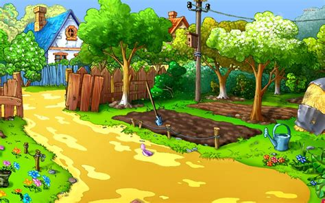 wallpaper garden cartoon farm background pictures wallpapersafari