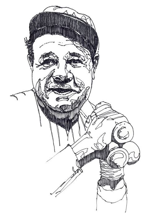 babe ruth coloring pages coloring home