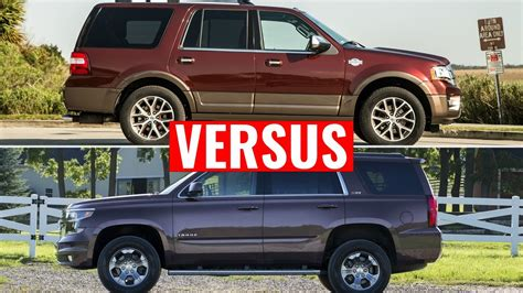 chevy tahoe vs ford expedition 2015 chevy tahoe vs 2015 ford expedition visual