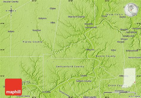 physical map of ohio physical map of ohio county