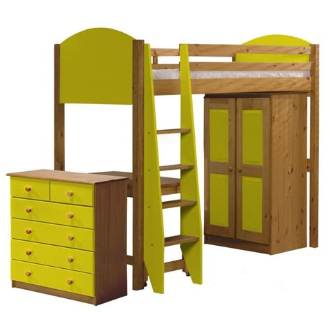 Next High Sleeper by Verona Highsleeper Bed In Solid Pine Available As Set