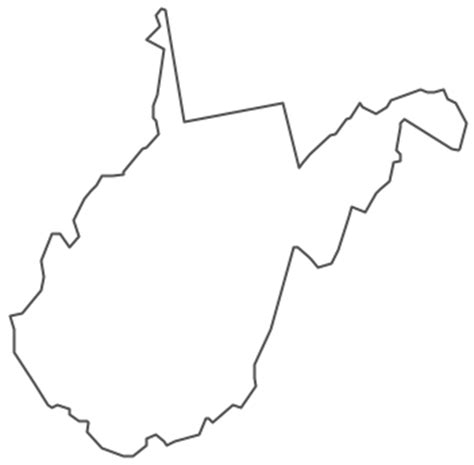 West Virginia State Outline Vector by Geo Map Usa West Virginia