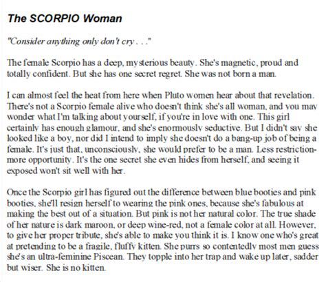 scorpio female personality movimento pelas serras e