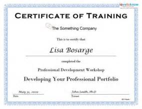 Training Certification Template Training Certificates Pdf Sample Certificate Templates