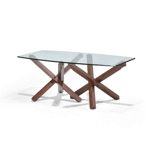 Shop Allen Roth Hindon Glass Top Rosewood Rectangle Patio Glass Table