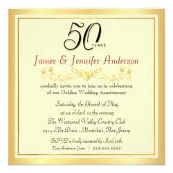 50th wedding anniversary invitations 50th wedding anniversary invitations 5 25 quot square