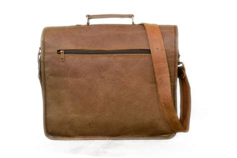 Handmade Leather Satchels - handmade 18 brown goat leather satchel laptop bag