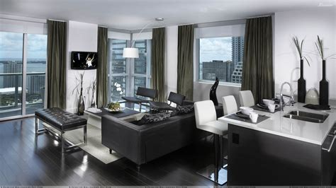 appartment in nice black and white nice apartment interior wallpaper