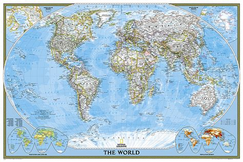 south africa classic tubed national geographic reference map books world classic poster size and laminated