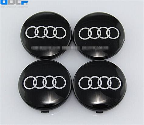 audi hubcaps set of 4 pcs 60mm wheel center caps hubcaps for audi black