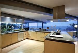 beautiful house interior view of the kitchen contemporary dream house architecture with glass wall in laguna beach home design and home