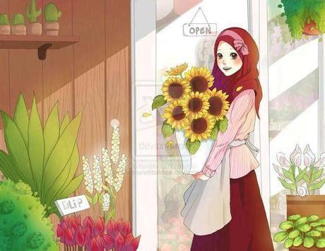 cute hijab cartoon muslim hd wallpaper  android apk