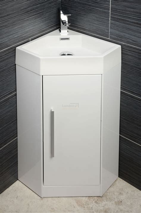 Pedestal Sink With Cabinet Solo 360mm Corner Vanity Unit Amp Basin