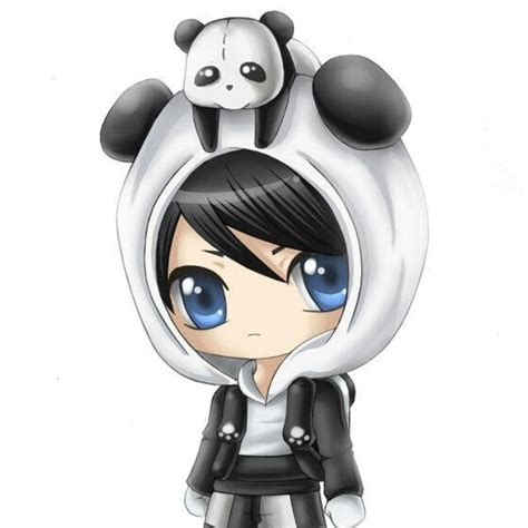 anime boy chibi panda anime chibi boys