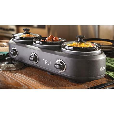 3 crock buffet slow cooker 222808 kitchen appliances