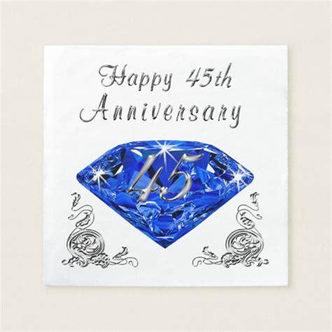 Lovely Sapphire 45th Wedding Anniversary Napkins   Zazzle.com