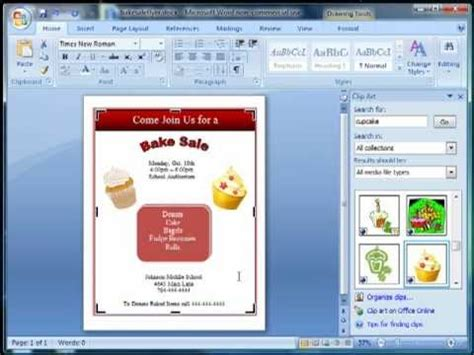 make a flyer using word youtube