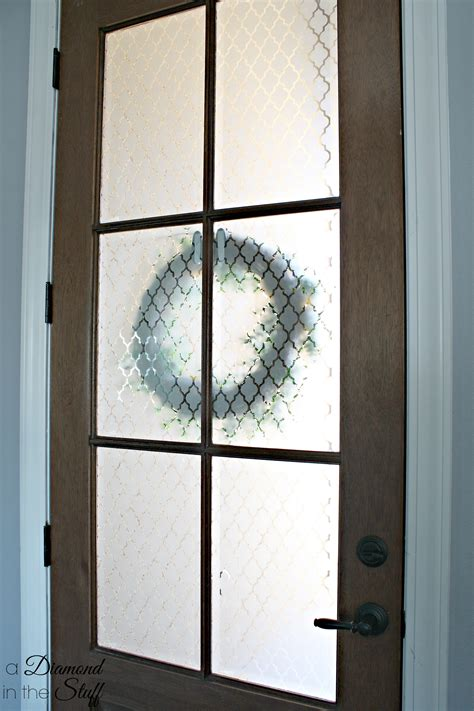 Etched Glass Front Doors Faux Etched Glass Front Door