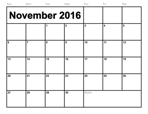 printable calendar november 2016 november 2016 calendar printable template pdf with holidays