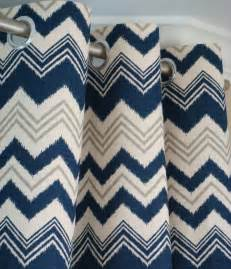 Navy Chevron Curtains Navy Blue Gray Natura Beige Ikat Chevron Zig Zag Zazzle