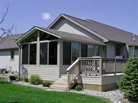 double gable roof design sunroom vinyl house plans