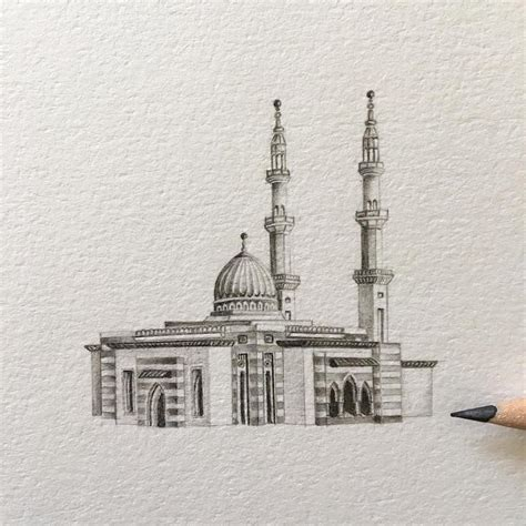 Mosque Drawing by Intricately Detailed Miniature Drawings Of Real Mosques In The Uae