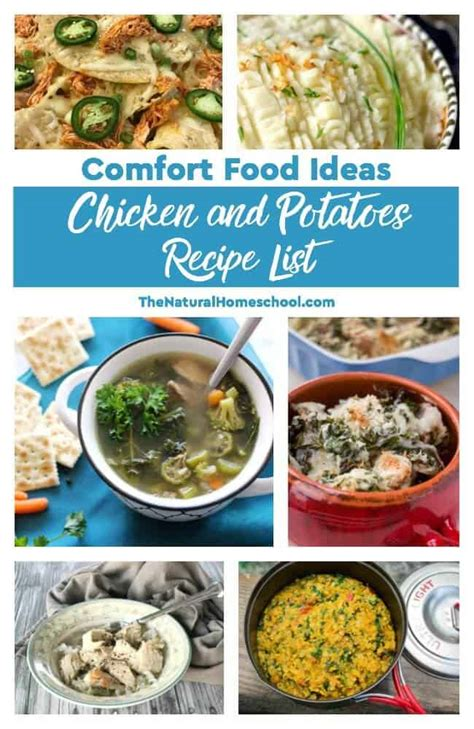 list of comfort foods comfort food ideas chicken and potatoes recipe list