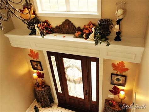 foyer ledge decorating ideas fall foyer decorating foyer ledge autumn display 255b2