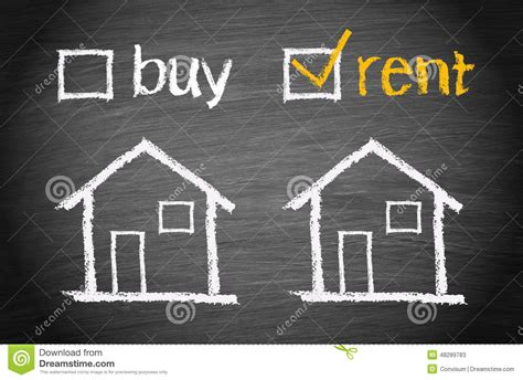 buy versus rent stock photo image 48289783