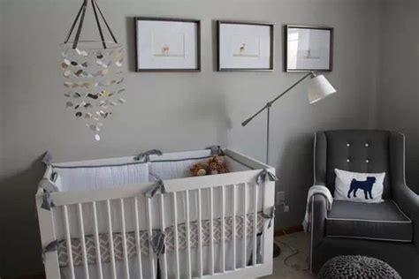 Light Grey Crib Nursery Light Gray Walls White Crib With Gray