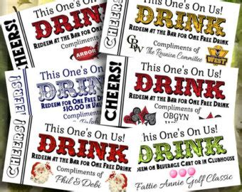 printable drink tickets i do di y on etsy handmade hunt