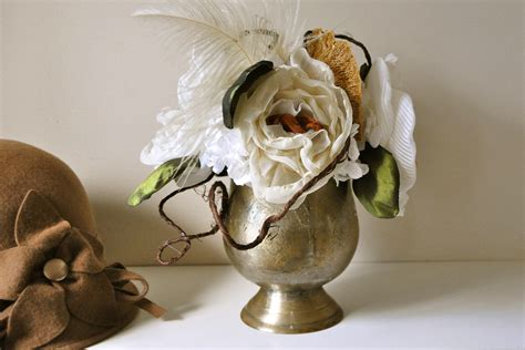fall wedding flowers bouquets and centerpieces brass vase