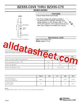 zener diode c27 datasheet bzx55 c5v1 datasheet pdf general semiconductor