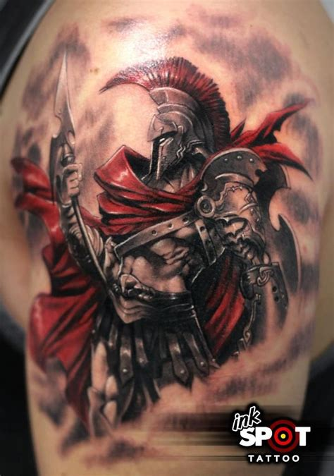 greek warrior tattoo legion designs