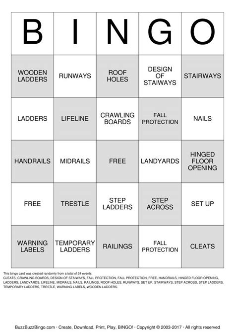 printable exponent games safety bingo cards to download print and customize