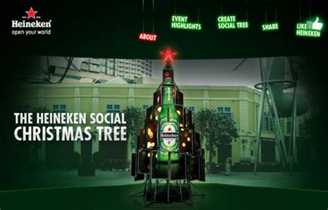 best christmas tree light brand heineken celebrates with a set of new apps popsop