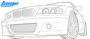 outline drawing bmw m3 sketch coloring page