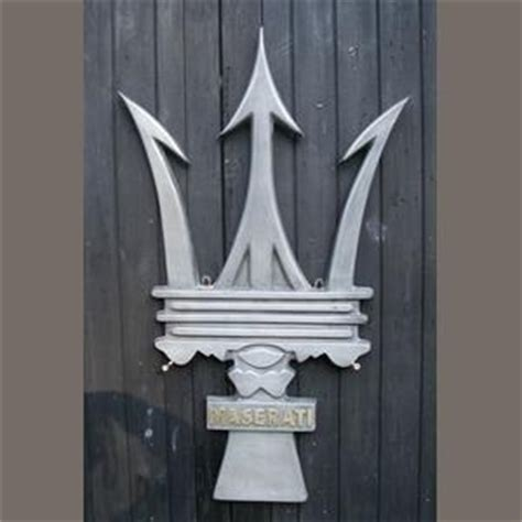 maserati trident tattoo a maserati trident garage display emblem symbolic
