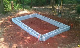 how to build a concrete block shed foundation haddi