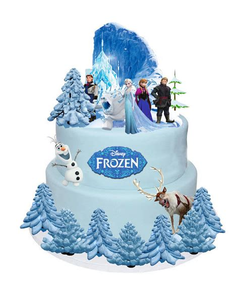 Frozen Cakes Decorations by Disney Frozen Elsa Olaf Stands Up Cake Toppers Wafer