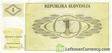 Tolar by 1 Slovenian Tolar Triglav Mountain Series Exchange Yours
