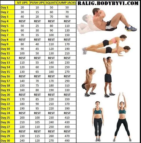 30 day push up and sit up challenge 30 day challenge workout push ups sit ups