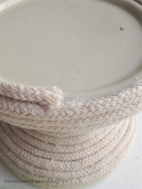 diy rope candle holder here comes the sun