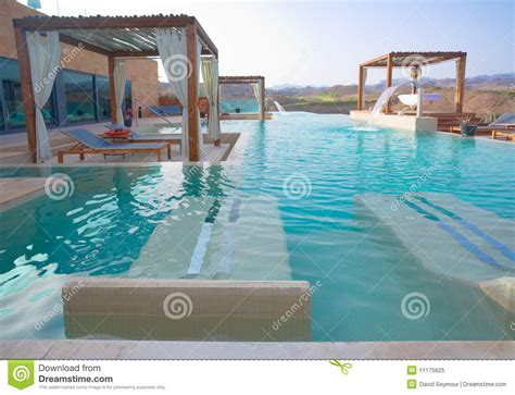 Backyard Resorts Pools And Spas Luxury Outdoor Pool Spa Royalty Free Stock Photo Image